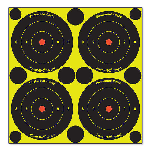"Birchwood Casey Shoot-N-C Targets 3"" Bullseye Pack of 48 with 120 Pasters, 34315"