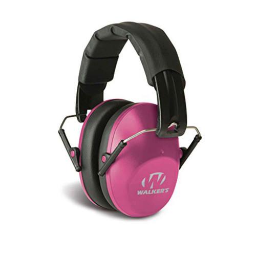 Walker's Game Ear Pro Low Profile Folding Ear Muffs NRR 31 dB Pink, GWPFPM1PNK