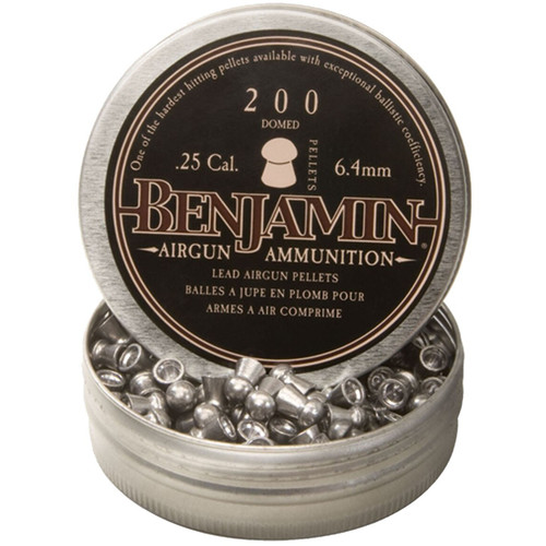 Benjamin BD225 .25 Cal, 27.8 Grains, Domed, 200ct