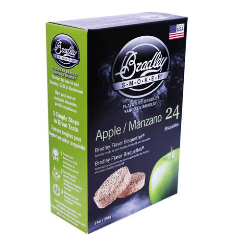 Bradley Smoker Bisquettes Apple Flavor 24Pk