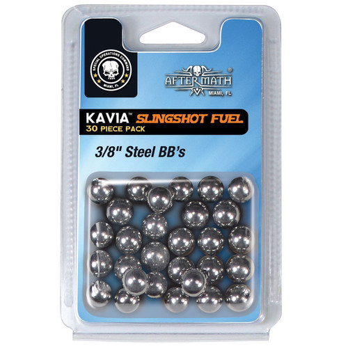 Aftermath 611172054 Kavia Slingshot Fuel, 3/8 Steel BBs, 30ct