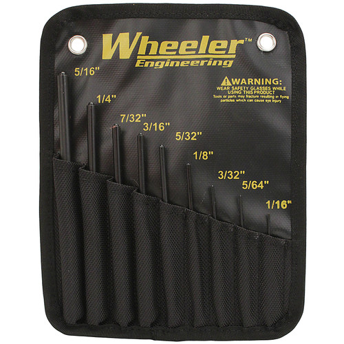 Wheeler Wheeler Engineering 9 Piece Roll Pin Punch Set with Storage, 204513
