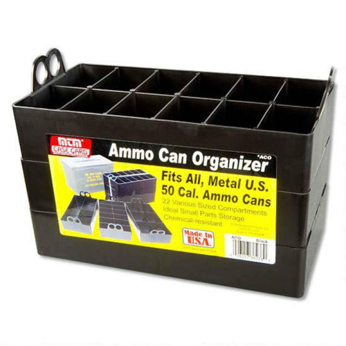 MTM Case-Gard .50 Caliber Ammo Can Organizer Tray 3 Pack Black, ACO
