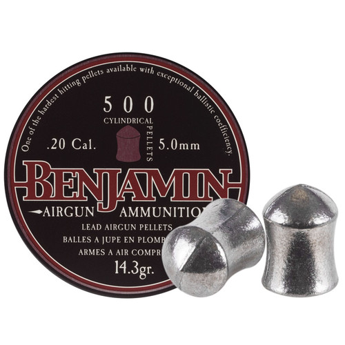 Crosman P50 Benjamin Airgun Pellets 20 Caliber 14.3 Gr Cylinder Tin of 500