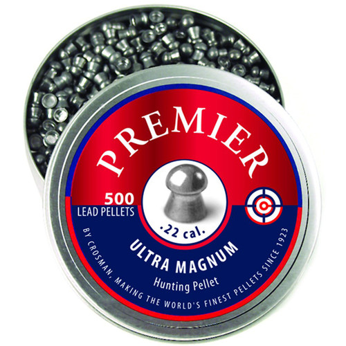 Crosman LDP22 Premier Airgun Pellets 22 Caliber 14.3 Grain Domed 500 Rounds