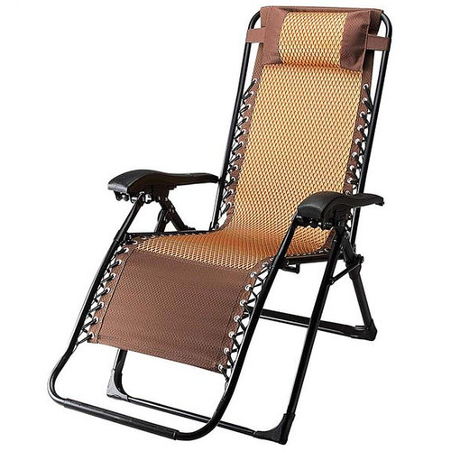 World Famous Sports Zero Gravity Lounge Chair One Size Bronze Brown
