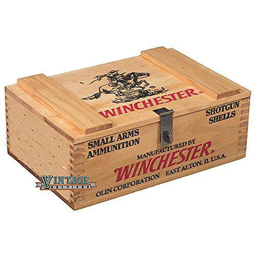 Winchester Wooden 250 Shell Ammo Box