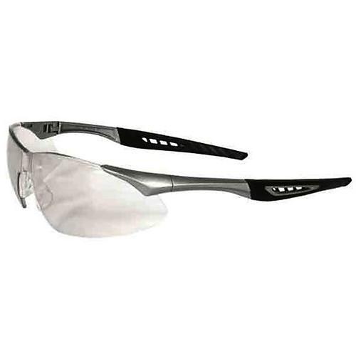 Radians Rock X-Treme Anti-Fog Shooting Glasses Clear Lens Black Frame, RK1-11CS