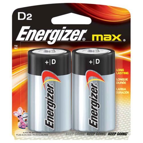 Energizer Max D Alkaline Battery 2 Pack