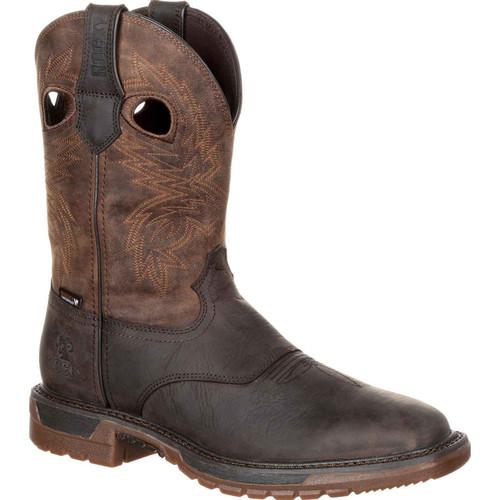 Rocky Men's Brown Flex Ride Waterproof Toe Western Boot RKW0234