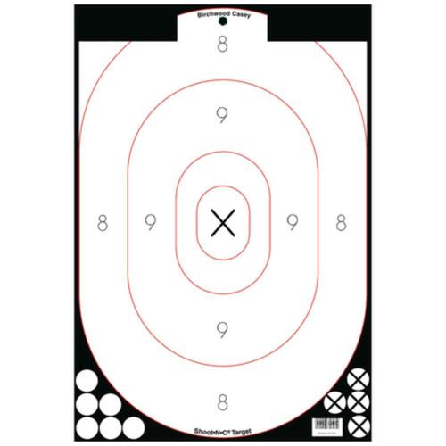 Birchwood Casey Shoot-N-C 12x18 Silhouette Targets Pk of 5, 34615