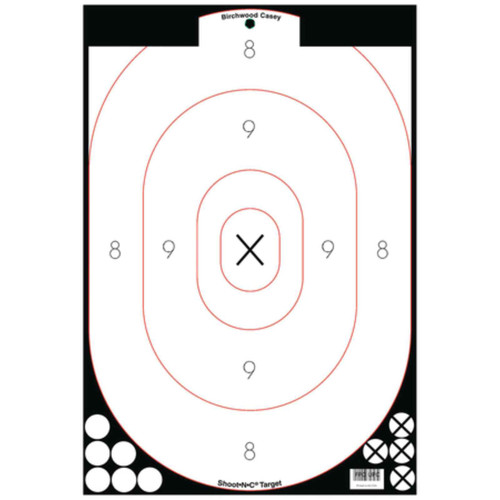 Birchwood Casey Shoot-N-C Self-Adhesive 12x18 Silhouette Targets Pk of 5, 34615