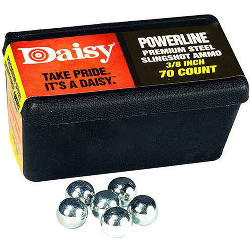 "Daisy 988183-446 Powerline Premium Steel Slingshot Ammo 3/8"", 70ct"