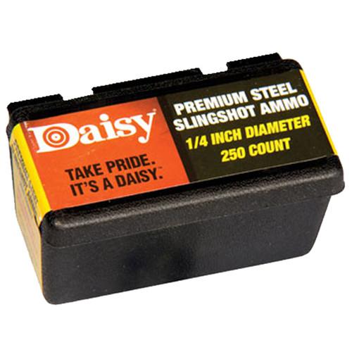 "Daisy 8114 Premium Steel Slingshot Ammo .25"" Diameter Zinc Plated 250 Pack"