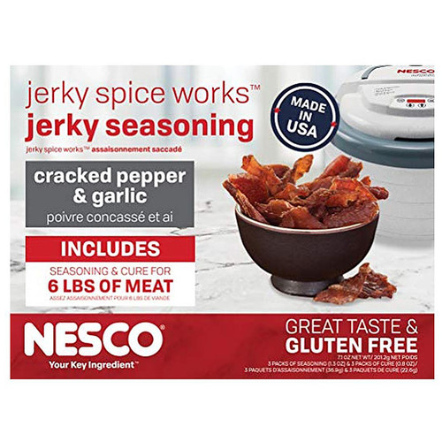 Nesco Jerky Spice Works Cracked Pepper & Garlic Jerky Seasoning