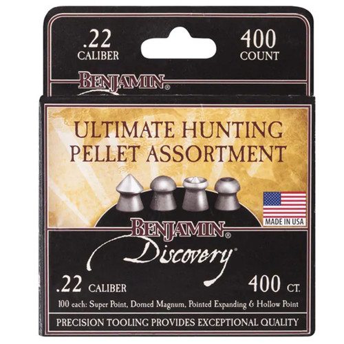 Benjamin 22BHPA Assorted Hunting Pellets, .22 Cal, 400ct
