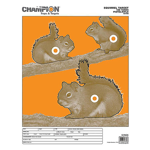 Champion Large Squirrels Target 12 Pack, 45788