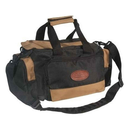 Outdoor Connection Deluxe Range Bag Multiple Pockets Water Resistant Tan and Black, BGRNG1-28110