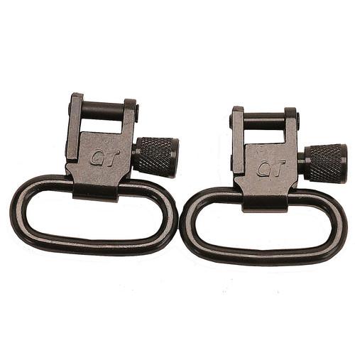 """GrovTec Locking Sling Swivels 1"""" Steel Black (1 Pair), GTSW01"""
