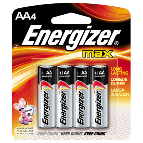 Energizer Max AA Alkaline Battery 4 Pack