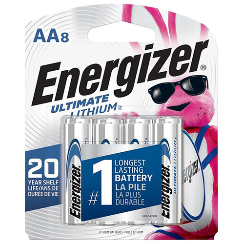 Energizer Ultimate Lithium AA Battery 8 Pack