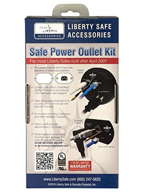 Liberty Safe Power Outlet Kit with USB, Ethernet for Dehumidifiers & Lights