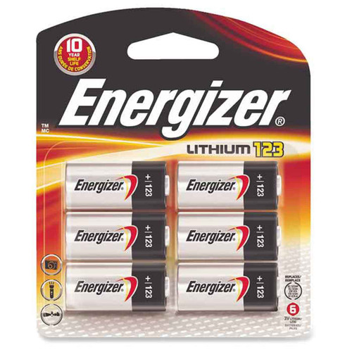Energizer Lithium 123 Battery 6 Pack