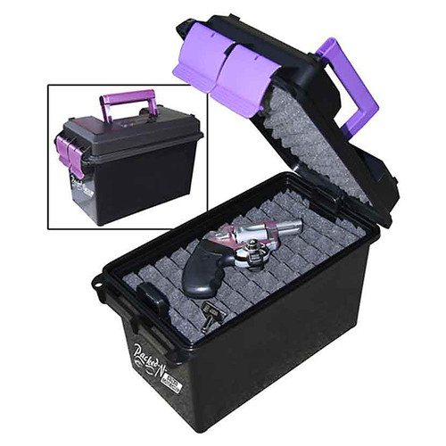 MTM HCC-25 HANGUN CONCEAL CARRY CASE WITH PURPLE ACCENTS
