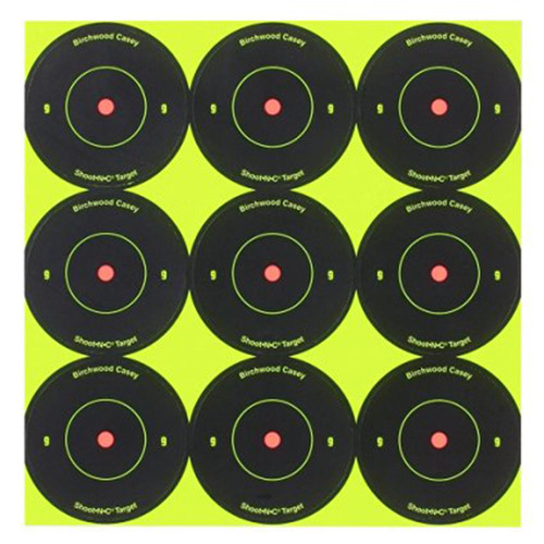 Birchwood Casey Shoot-N-C Self-Adhesive 2in Bullseye Targets Pack of 12, 34210