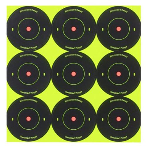 Birchwood Casey Shoot-N-C Self-Adhesive 2in Bullseye Targets Pack of 12, 34210
