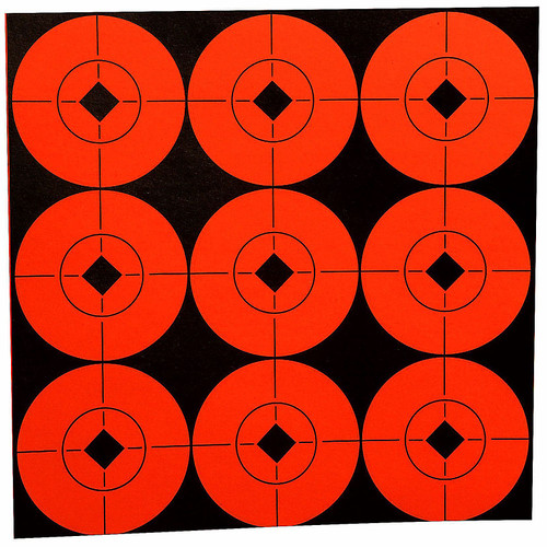 Birchwood Casey Self Adhesive 2in Target Spots Fluorescent Red, 33902