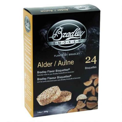Bradley Smoker Bisquettes Alder Flavor 24Pk