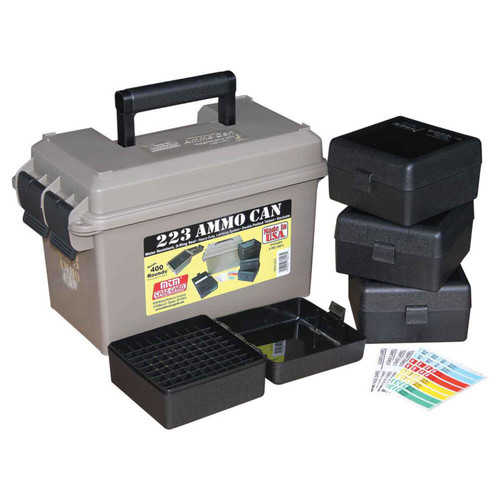 MTM ACC223 223 AMMO CAN COMBO- INCLUDES 4 RS-100'S - DARK EARTH