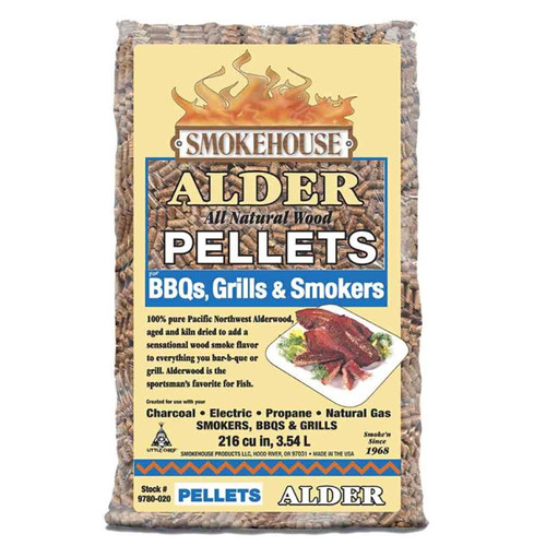 Smokehouse Products Alder BBQ Pellets