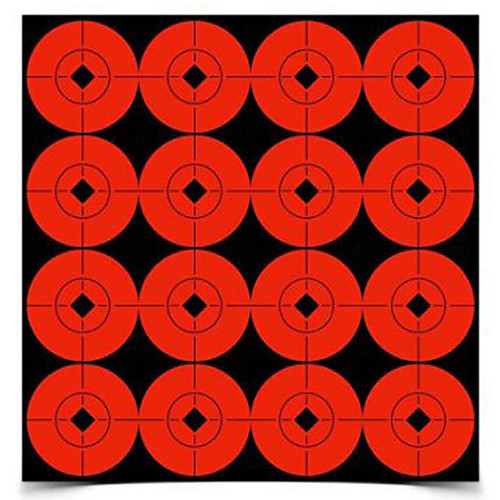 Birchwood Casey Self Adhesive 1.5in Target Spots Fluorescent Red, 33904