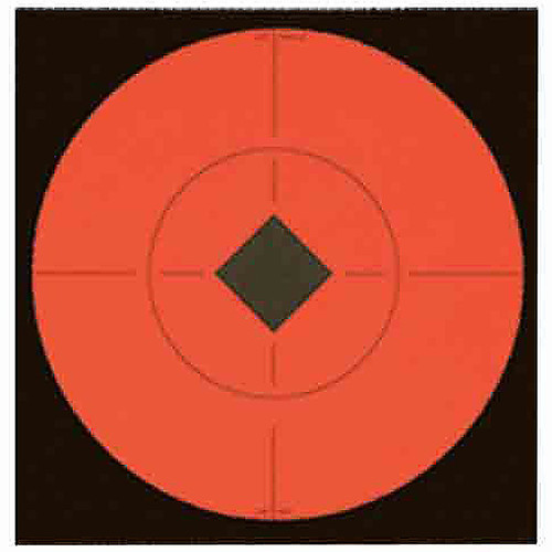Birchwood Casey Self Adhesive 6in Target Spots Fluorescent Red, 33906