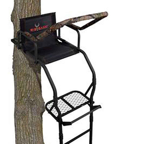 BIG GAME LS3811 17' Warrior Dxt Ladderstand, Camo/Black