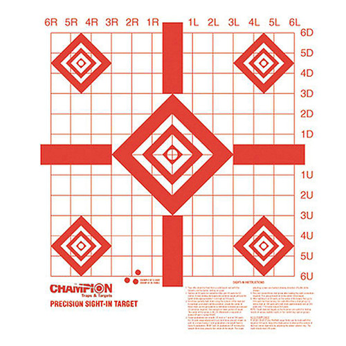 """Champion Redfield Style Precision Sight In Target 16""""x15.75"""" 10 Pack, 47388"""