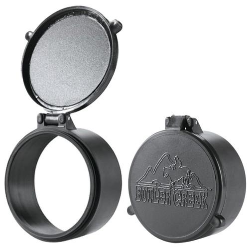 Butler Creek Flip-Open Scope Cover Objective Size 15 Polymer Black, 30150