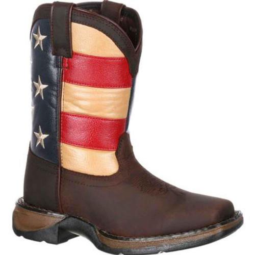 Durango Lil'Rebel Little Kids' Flag Western Boot DBT0159