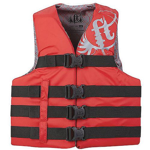 Full Throttle Life Vest 2XL/4XL/Red