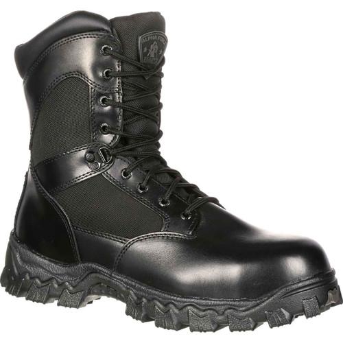 Rocky Mens AlphaForce WP Zipper CT Black Duty Boots FQ0006173