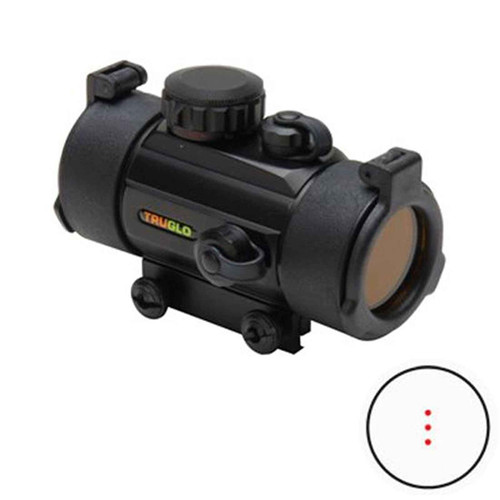 Truglo 30mm Crossbow Red Dot Scope 3 Dot Black, TG8030B3