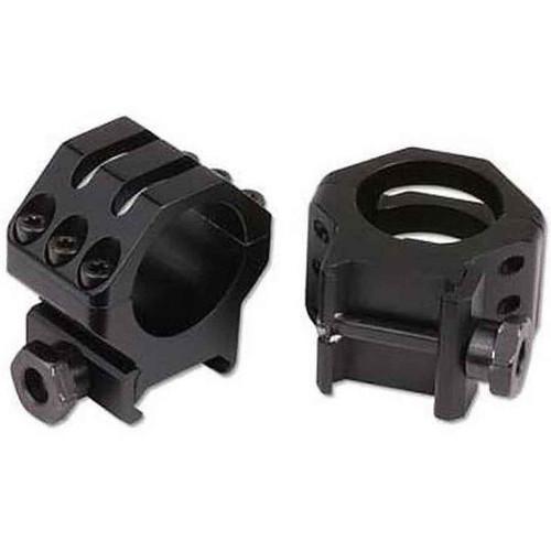 "Weaver 6 Hole Tactical Scope Rings 1"" High Matte Black, 48350"