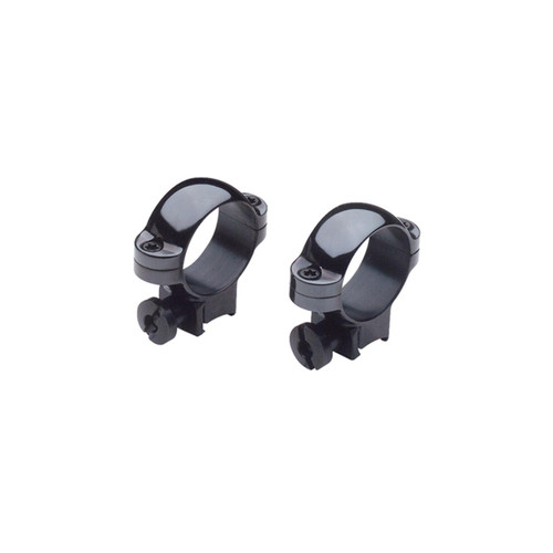Burris Deluxe Steel Rimfire Rings 1in Medium Matte Black, 420069