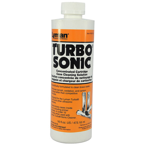 LYMAN 7631705 TURBO SONIC BRASS CASE CLEANIG SOLUTION (CONCENTRATE) 16OZ.