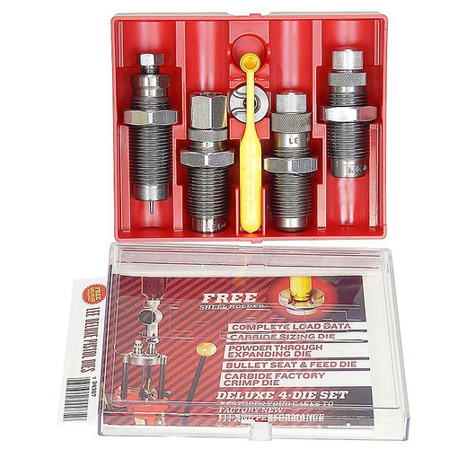 LEE 90965 DELUXE 4 DIE CARBIDE SET 40 SMITH & WESSON AND 10MM AUTO
