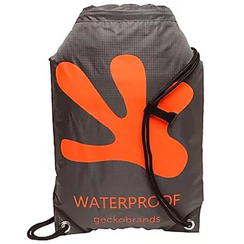 geckobrands Drawstring Waterproof Backpack Grey/Orange