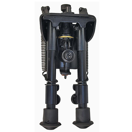"Harris Ultra-light Bipod Swivel/Sling Swivel Stud Mount 9"" to 13"" Telescoping/Folding Legs Aluminum Matte Black, S-L"