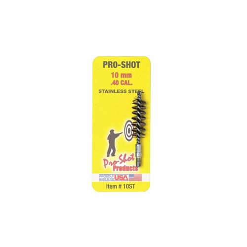 Pro Shot 10mm/.40 Cal Stainless Steel Pistol Bore Brush, 10ST